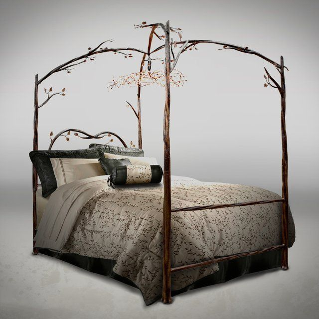 Enchanted Forest Queen Canopy Bed Iron Canopy Bed Canopy Bed Frame Queen Canopy Bed