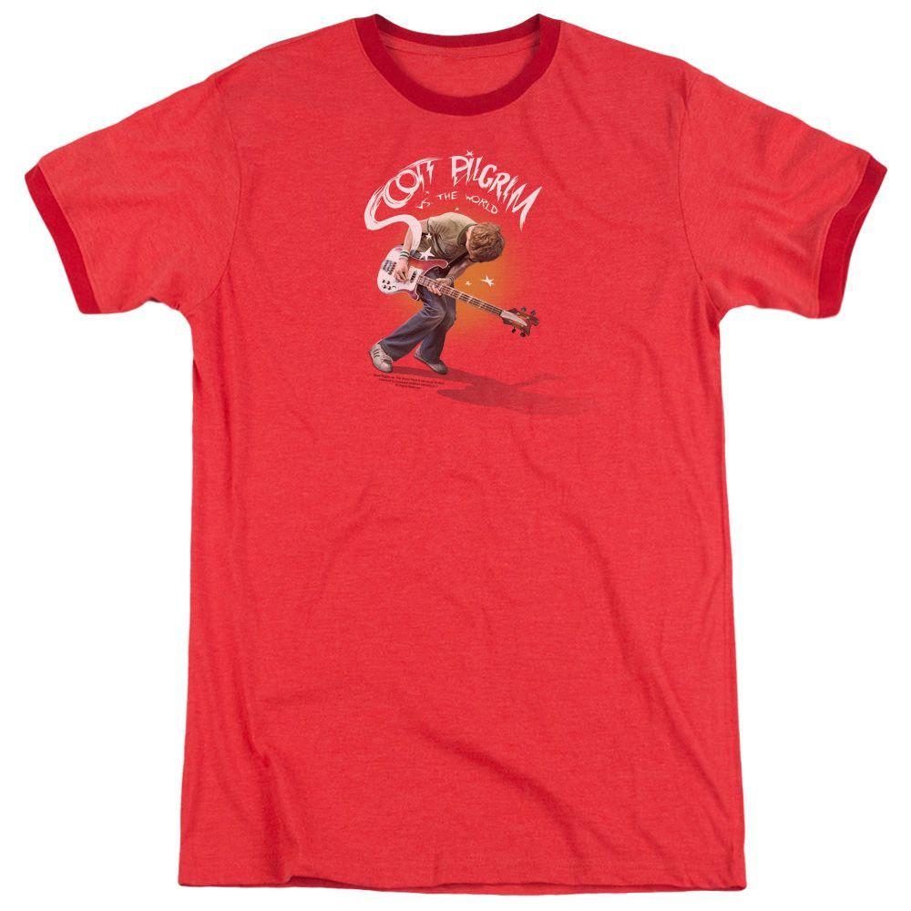 Scott Pilgrim Scott Poster Red Ringer T-Shirt