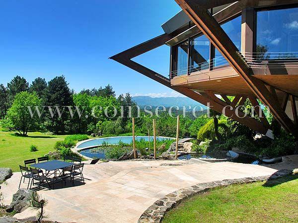 A Vésseaux, Villa de vacances atypique, perchée sur 15 m de hauteur - location maison cap d agde avec piscine