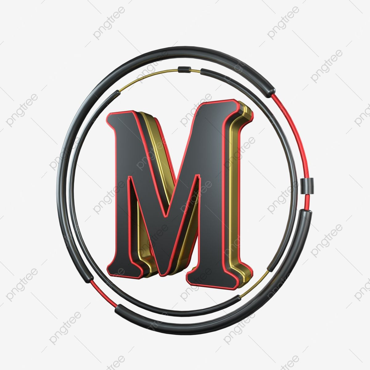C4d Cool Black Red Gold Three Dimensional Letter M Decoration C4d 3d Cool Png Transparent Clipart Image And Psd File For Free Download Lettering Clip Art Black And Red