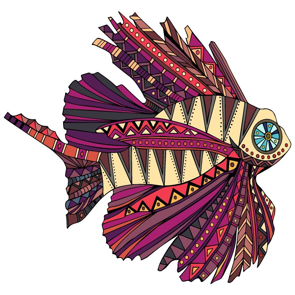 Tropical Fish | Coloring book app, Happy colors, Color by ...