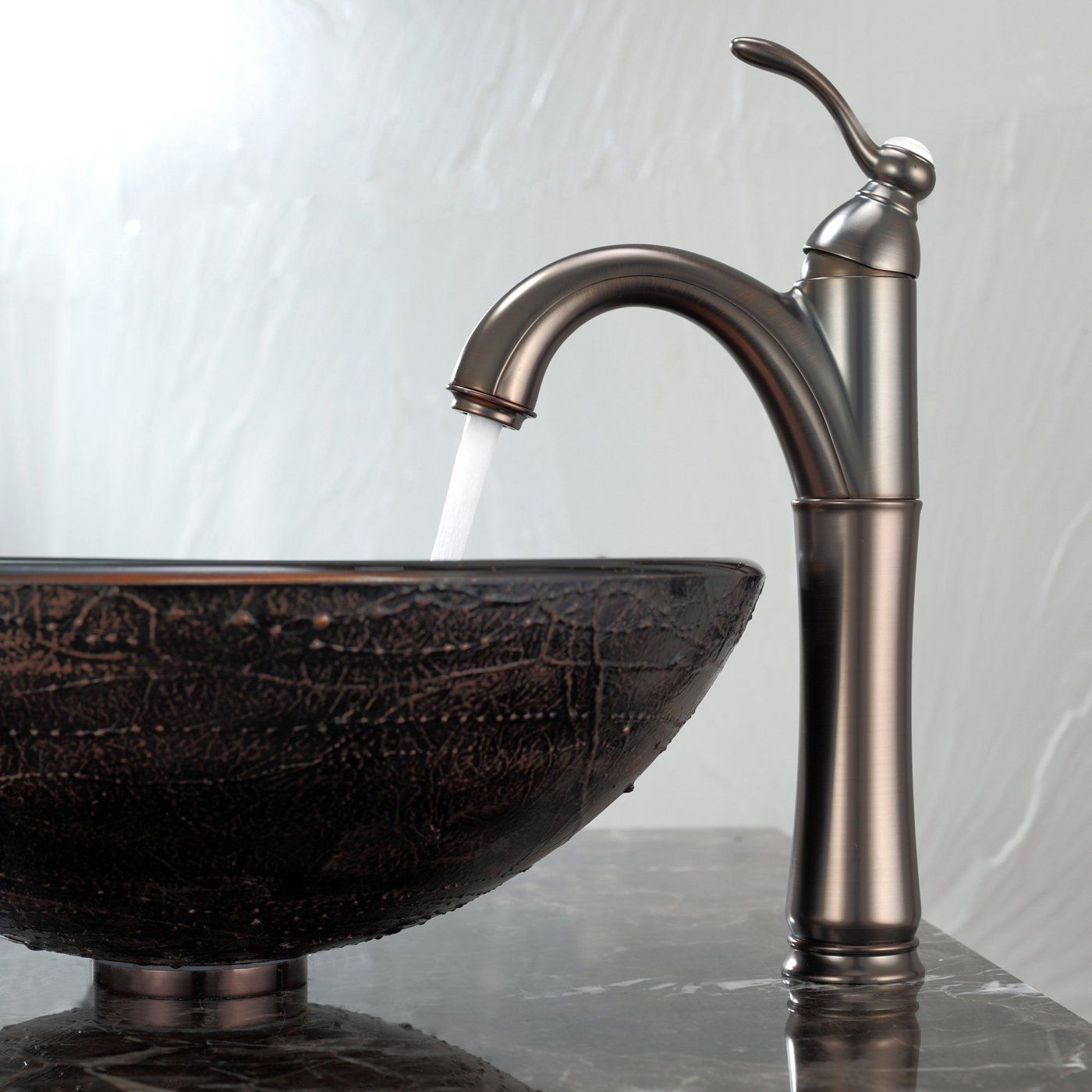 Kraus C-GV-580-12mm-1005ORB Copper Exquisiten Glass Vessel Sink and ...