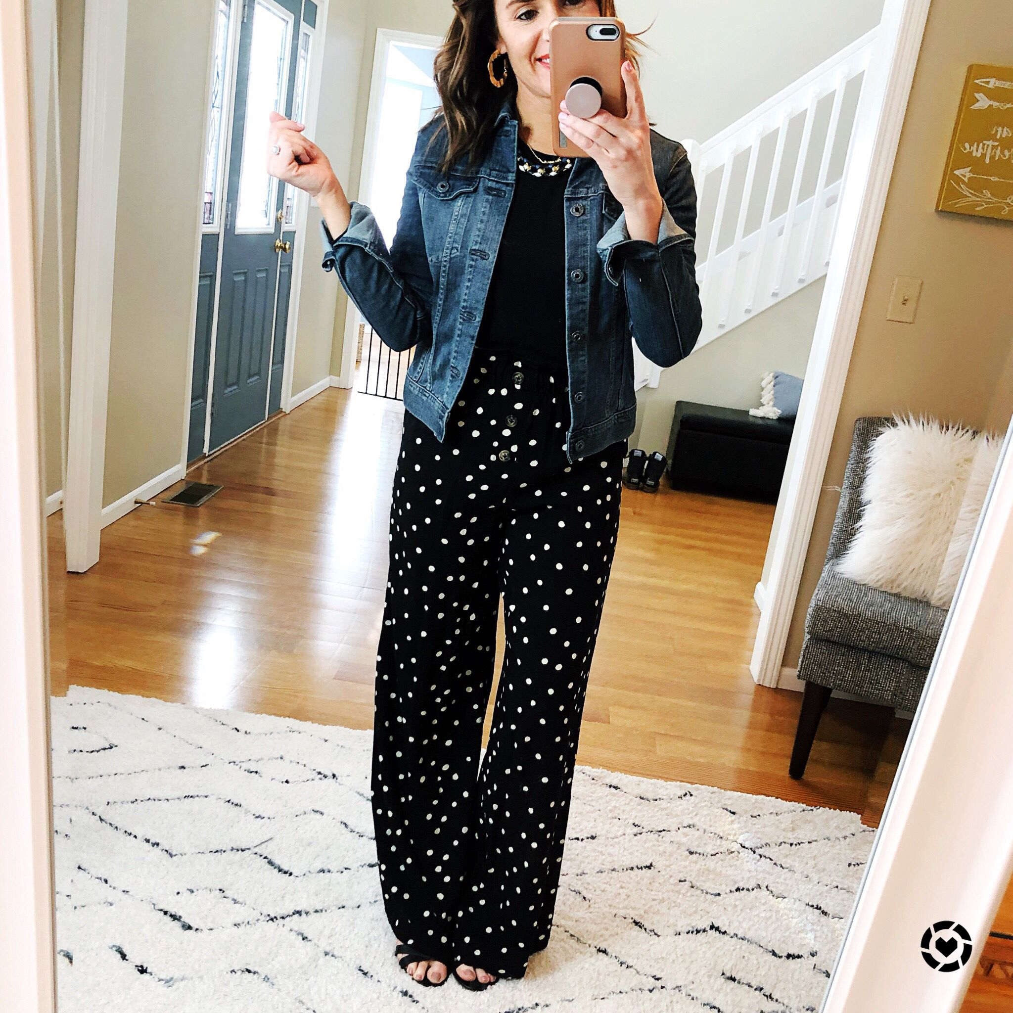 Polka Dot Wide Leg Pants Polka Dot Pants Outfit Dots Outfit Outfits [ 2048 x 2048 Pixel ]