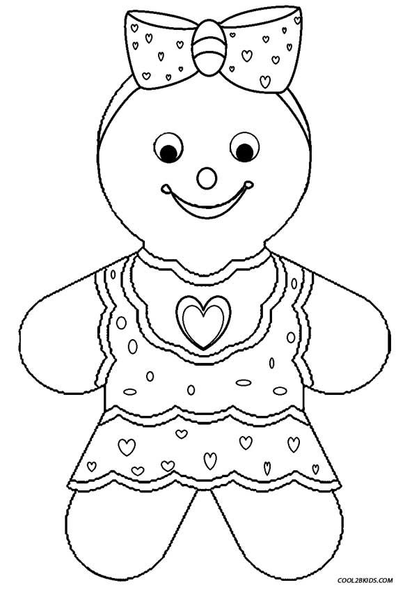 Cute Gingerbread Coloring Pages