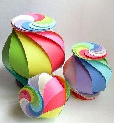 C mo hacer una original cajita de colores realizando - Manualidades faciles cuadros ...