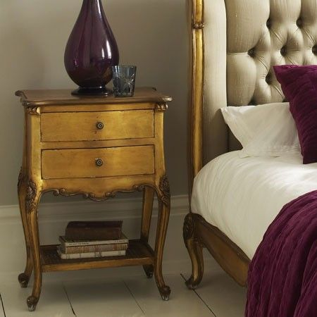 French Provincial Chateaux 2 Drawer Bedside Table Temple
