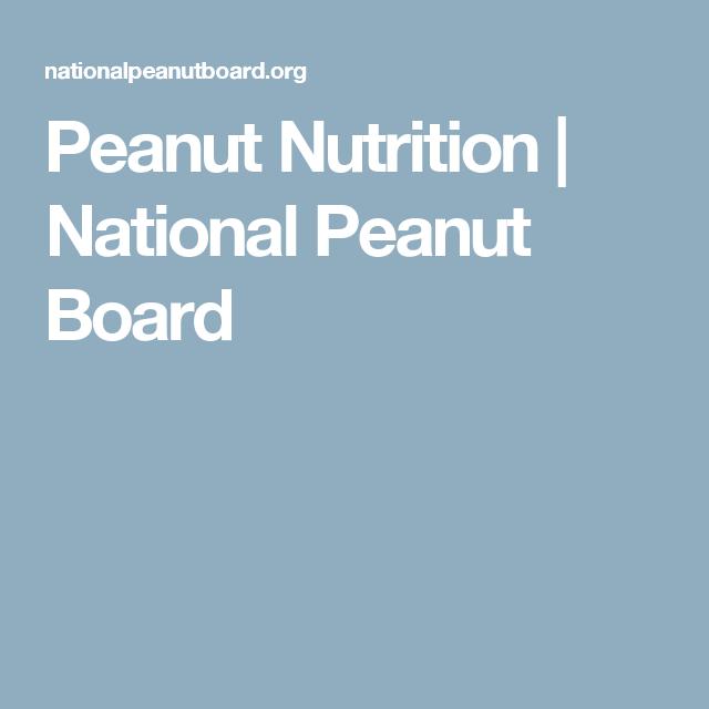 Peanut Nutrition | National Peanut Board
