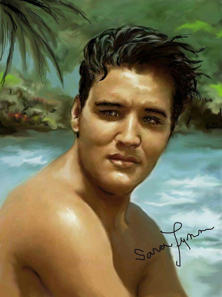 Elvis in Blue Hawaii 1961 by Sara Lynn    Elvis Art By Sara Lynn ... 61323d093e