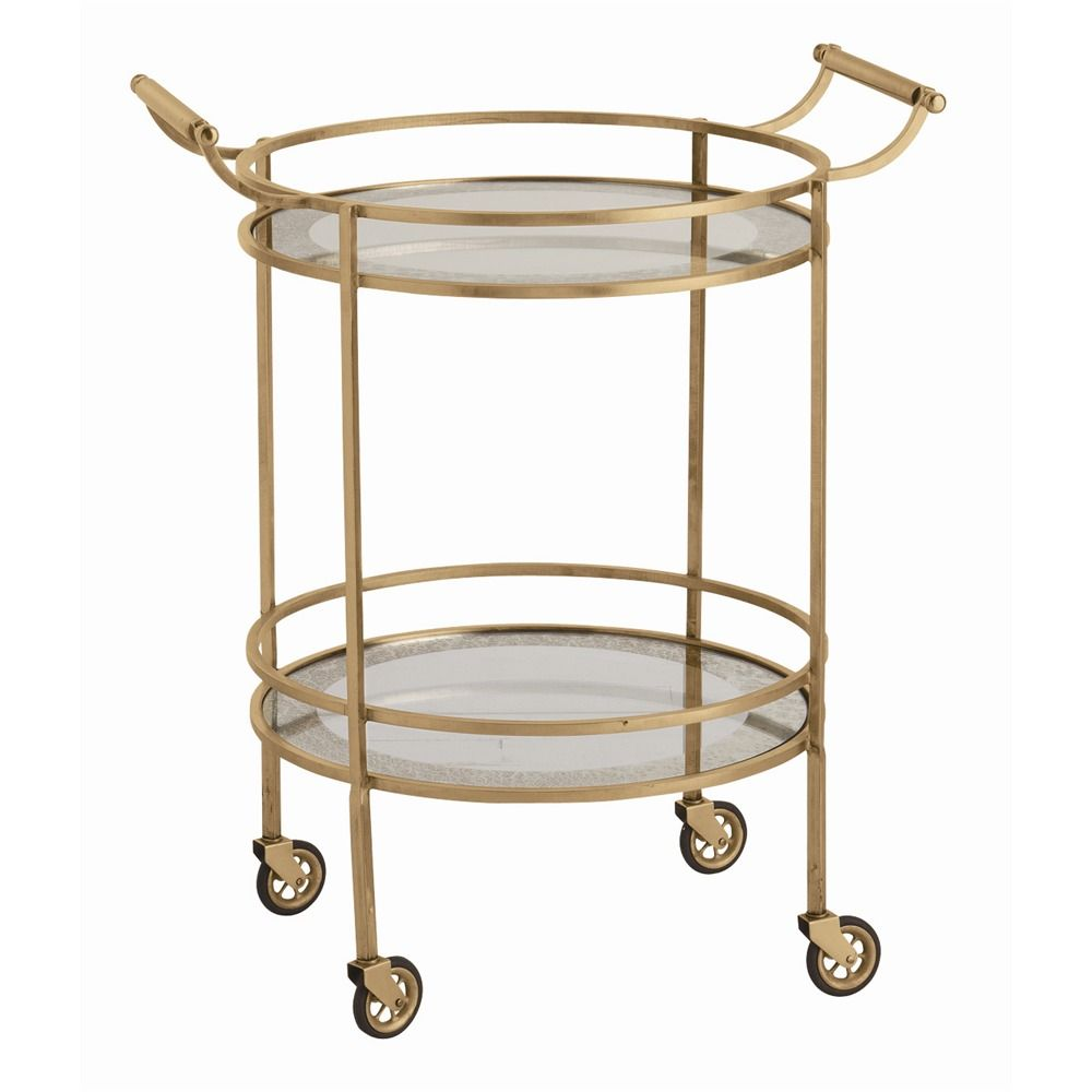 Wade Bar Cart - Antique Brass: The Southern Home featuring French ...