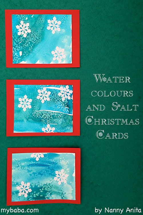 Make these easy yet beautiful Christmas cards using watercolours and salt. Great craft for children.