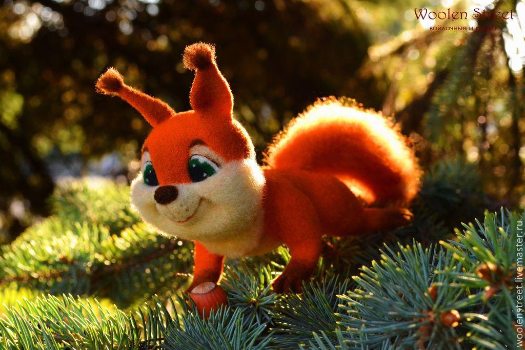 Купить Белочка Тася, игрушка из шерсти - рыжий, белочка, игрушка, войлочная игрушка, игрушка из шерсти