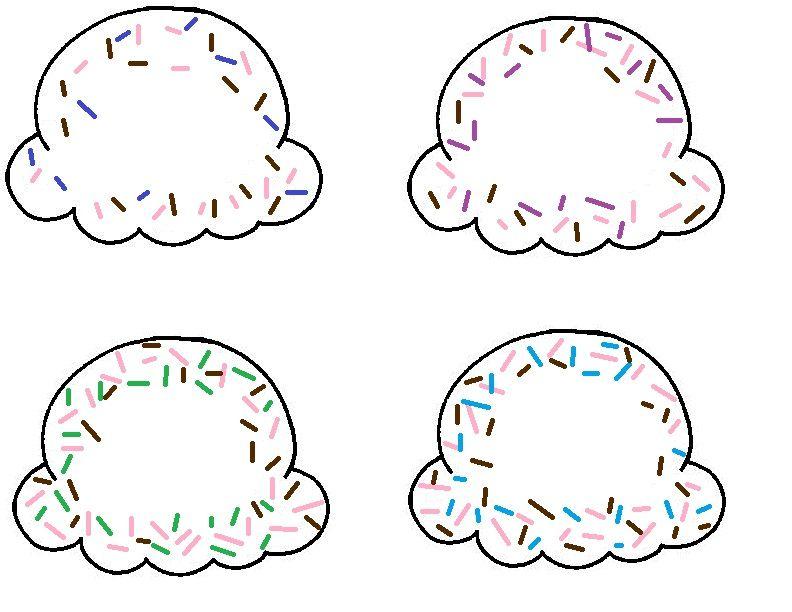 Printable Ice Cream Scoops P