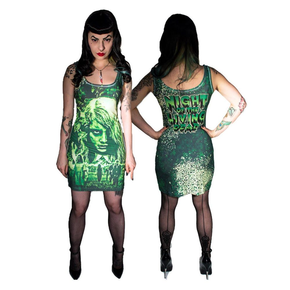 GOTHIC WEAR ALTERNATIVE KREEPSVILLE 666 NIGHT OF THE LIVING DEAD TANK DRESS