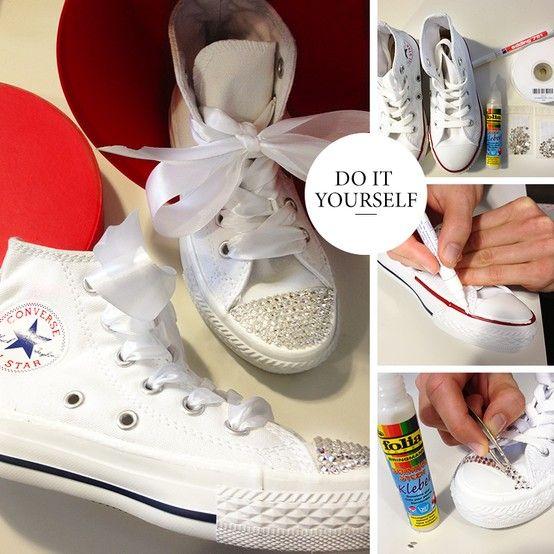 chuck taylor all star sneaker high optical white diy. Black Bedroom Furniture Sets. Home Design Ideas