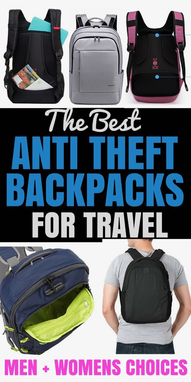 2546593bbb THE BEST ANTI THEFT BACKPACKS FOR TRAVEL - A TRAVEL REVIEW + COMPARISSON  CHART
