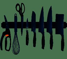 Enshey Wall Mount Magnetic Knife Holder Storage Rack Strip Utensil