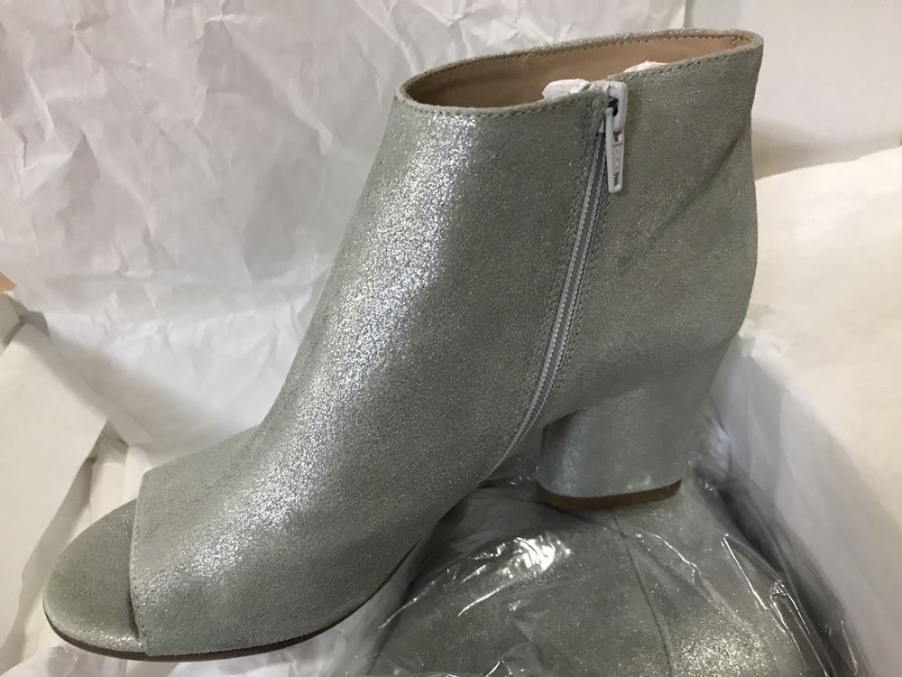 04b41186ac74 Maison Margiela Chunky-Heel Open-Toe Booties Silver Gray Size 6  fashion   clothing  shoes  accessories  womensshoes  boots (ebay link)