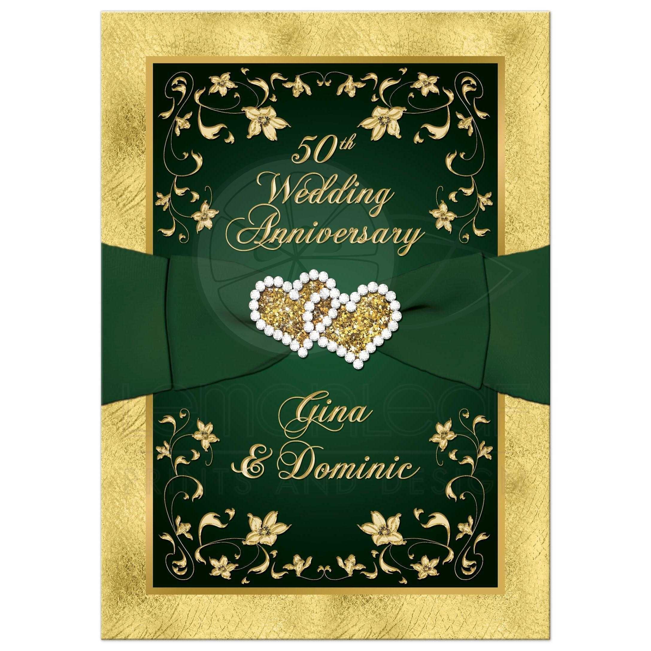 golden wedding anniversary invitation wording | Invitations card ...