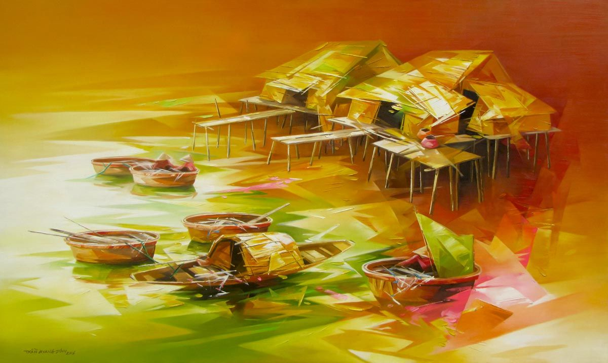 Fishing village 03 | Fishing villages, Artist and Paintings