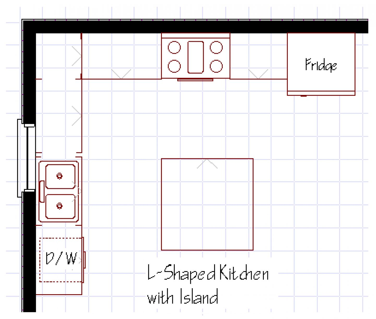 Drawing L Shaped Kitchen Floor Plans With Dimensions   Novocom.top