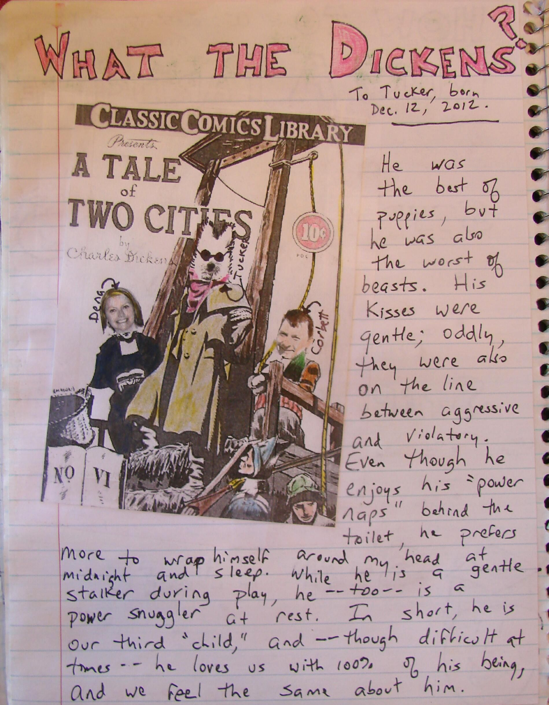 "I use a lot of short excerpts from great literature to inspire writer's notebook writing, and here's one of my favorites. My students must impersonate ""A Tale of Two Cities,"" but they do so without having any comma splices.  Here's a link to this lesson: http://corbettharrison.com/lessons/Tale-of-Two-Cities.htm"