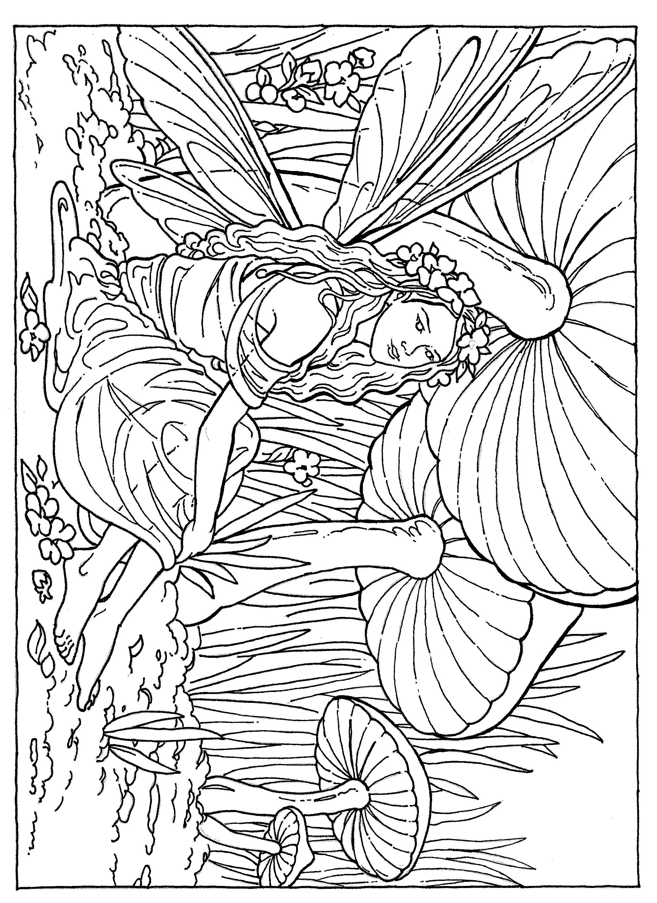 Fairy, Flower, Coloring Page | ILLUSTRATION / INSPIRATION ...