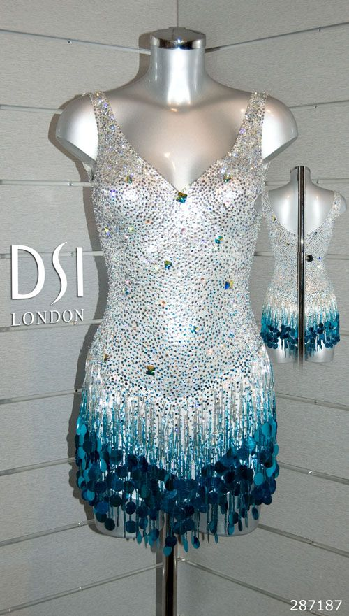 Chelsee Healey silver turquoise latin dress