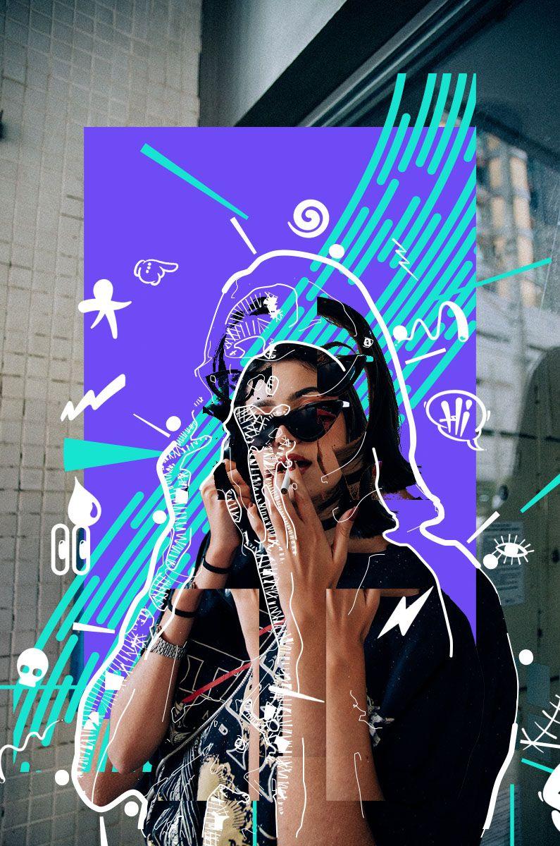 Scribble Doodle Collage Photoshop Action (с изображениями)