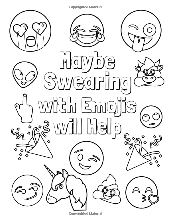 Amazon.com: Maybe Swearing With Emojis Will Help: Funny