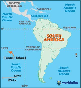 Map Easter Island Equator Galapagos Islands Galopagos