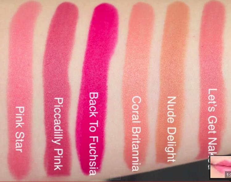 Rimmel Moisture Renew Lipstick Swatches on Lips 6 colors  Back to Fuschia <3 #MoistureRenew