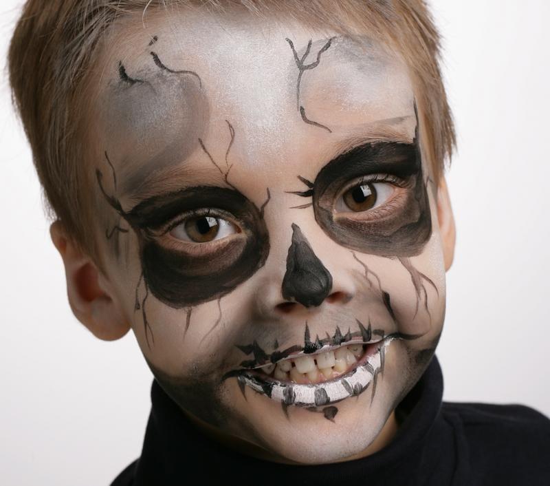 Trop mignon le petit squelette retrouvez tous nos tutos de maquillage pour halloween sur - Maquillage enfant halloween ...