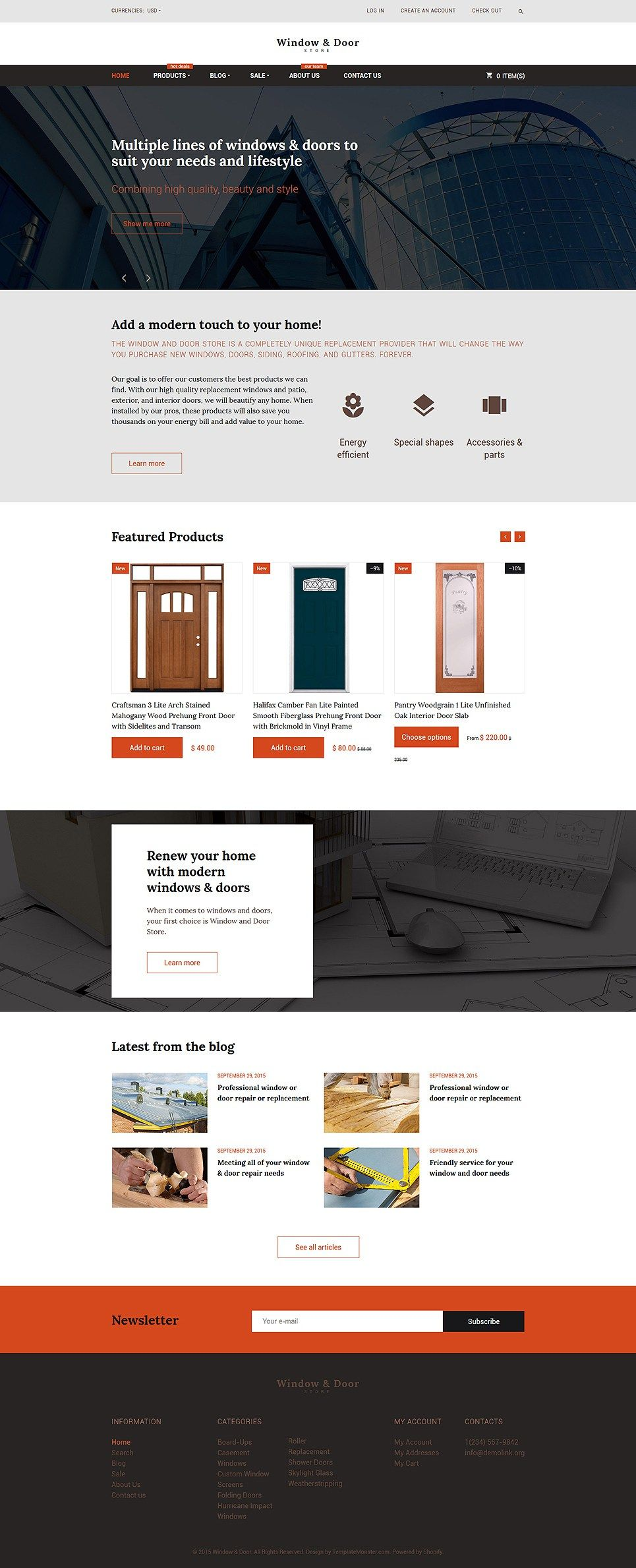 Awesome Home Decoration Plumbing Flooring And Lighting Store Shopify Themes    Windows And Doors Store (
