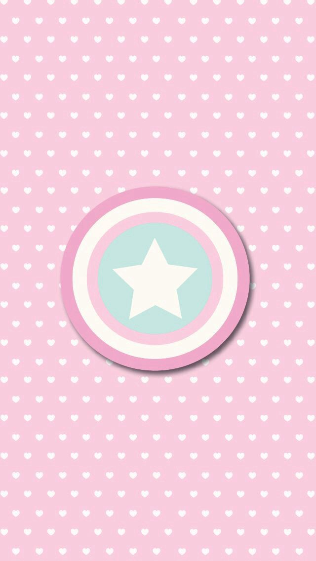 Hearts star on pink wallpaper you mean girly captain america hearts star on pink wallpaper you mean girly captain america shield phone wallpaper hell yeah voltagebd Images