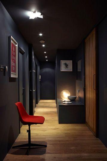 Couleur peinture  les nouvelles tendances Corridor, Hall and Sous sol - idee couleur couloir entree
