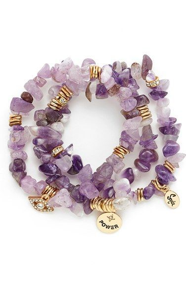 Sequin Stone Stretch Bracelets Set Of 3 Nordstrom Bracelet