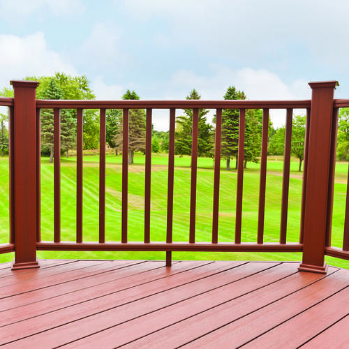 6 W X 3 H Ultradeck Fusion Rail Kit At Menards Decks And Porches Outdoor Porch Patio