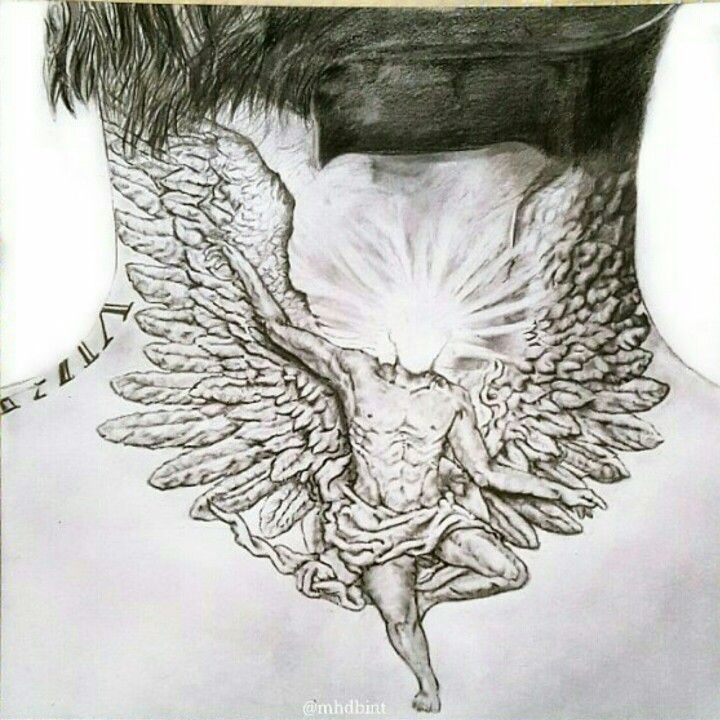 Pin By Erick On Tats Neck Tattoo Wing Neck Tattoo Neck Drawing
