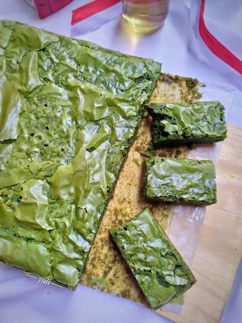 Resep Shiny Fudge Greentea Cake Oleh Yuli Resep Fudge Resep Resep Kue