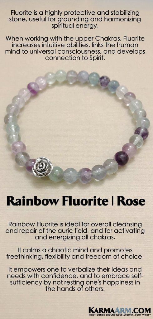 INTUITION: Rainbow Fluorite | Rose | Reiki Healing Bracelet | Meditation  prayer, Spiritual gifts and Yoga jewelry