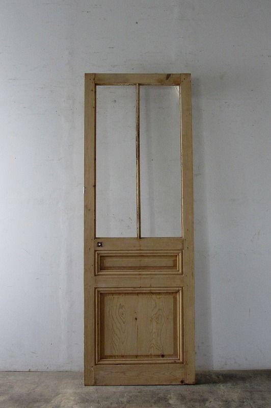 Antique Unpainted Glass Interior Door アンティーク無塗装ガラス