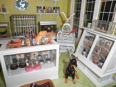 Her Collection Of Dreams Doll House Pets Pet Shop Room Box