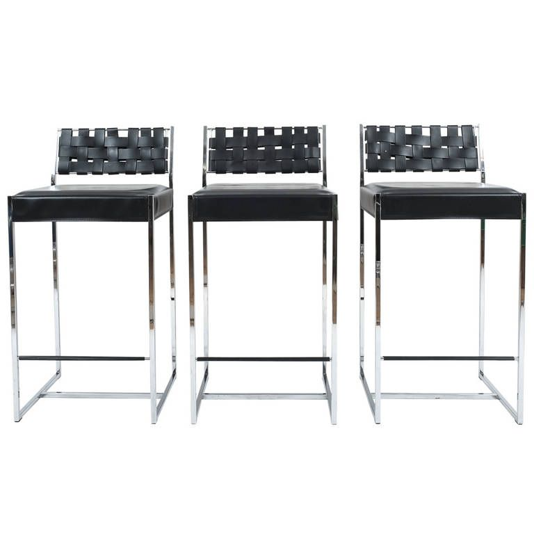 Set Of Three Arrben Leather And Chrome Bar Stools From A Unique Collection Of Antique And Modern Stools At Https Www 1st With Images Chrome Bar Stools Bar Stools Stool