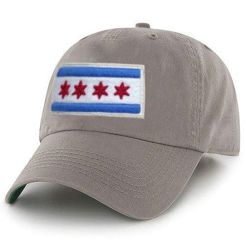 City of Chicago Khaki Vintage Adjustable Flag Hat by ThirtyFive55 ... b9ec0b1493a