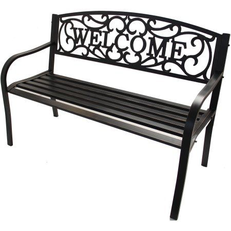Patio Garden With Images Outdoor Bench Metal Garden Benches