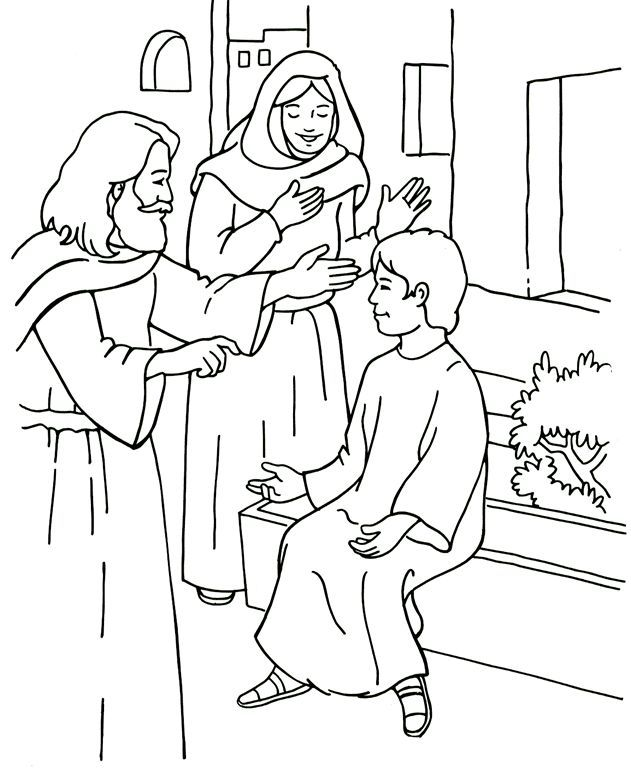 Coloring Page Superior Elijah And The Widow Coloring Page For Vbs