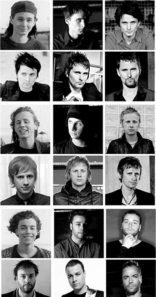 #Muse through years. Matthew, Dominic & Chris