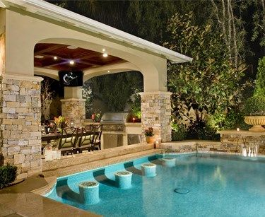 pool designs with swim up bar. Swim Up Bar Cabana Pool Designs With
