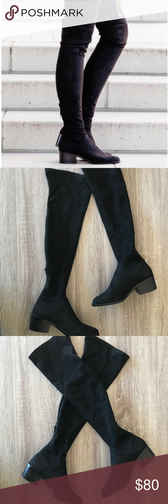 6b488cacca9 Steve Madden Gabbie Over the Knee Boot NIB Brand new in box black over-the