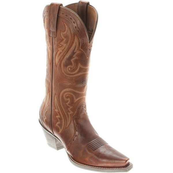 Ariat Womens Boots Heritage Western X Toe Caramel